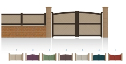 Modèle FochPortail plein • Remplissage horizontal ou vertical • Remplissage à 45° en option • Traverse centrale en option