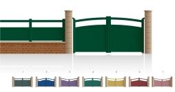Modèle Victor HugoPortail 3/4 bas plein traverses centrale et haute de forme identique • Remplissage horizontal ou vertical • Remplissage à 45° en option
