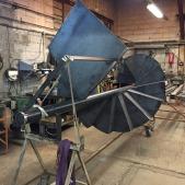 Escalier métallique hélicoïdal brut dans notre atelier