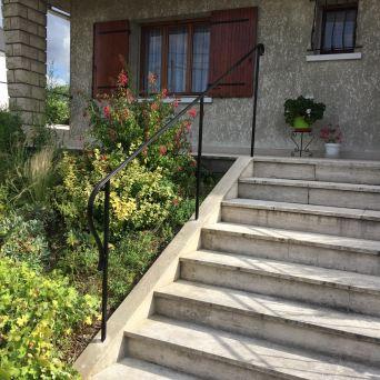 Rampe d'escalier acier - fer forgé