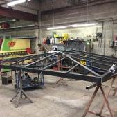 Fabrication de la toiture d'une pergola en acier