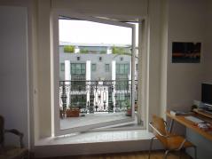 Grande fenêtre aluminium avec ouverture 1/3 2/3