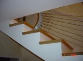 Rampe d'escalier en inox