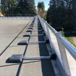 Garde corps de protection de toît en aluminium