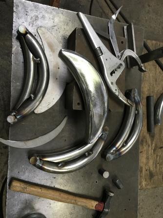 Fabrication de pare-choc avant pour une Delahaye