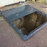 Plaque renforcée en acier pour fosse