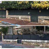 Intervention sur une clôture complète en acier